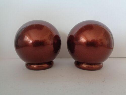 Par de bola de color de cobre oscuro extremos para Barra de cortina 28mm remates Esfera Redonda