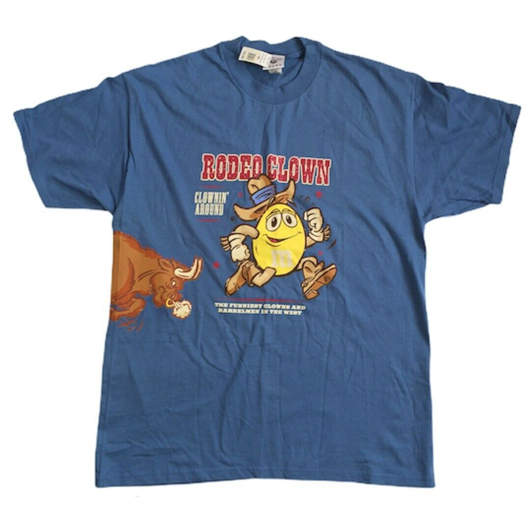 Vintage 90s M&Ms Yellow Rodeo T-shirt SZ XL