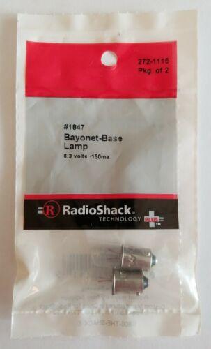 RadioShack #1847 Bayonet Base Lamps 6.3V 272-1115 *FREE SHIPPING* NEW
