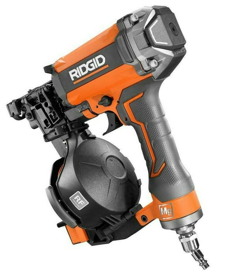 Rigid R175RNF 1-3 4 in. Roofing Coil Nailer With Magnesium Housing + WARRANTY