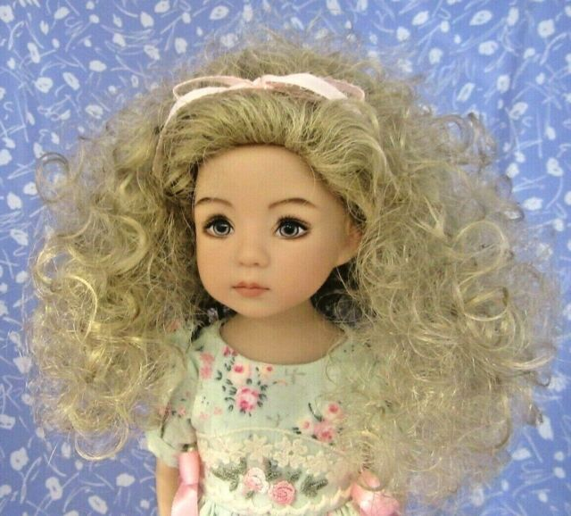 Monique STORMY WEATHER P. Blond Full Cap Doll Wig Sz 7-8 Curly - Little Darling