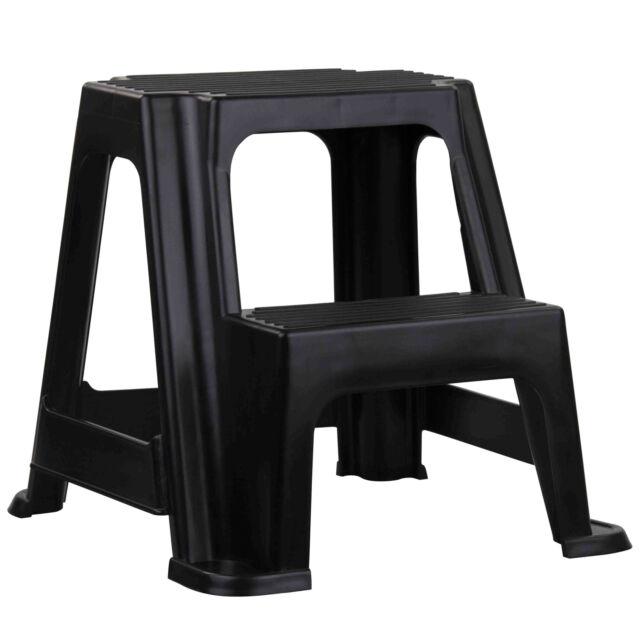 Two Step Stepstool Stool Black
