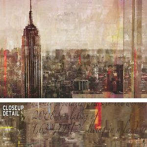 36 X24 Shades Of New York By Markus Haub City Empire State Building Canvas Ebay