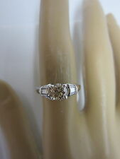 GORGEOUS ESTATE 14 KT GOLD .95 CTW CHAMPAGNE DIAMOND RING !!!!!!!!!!