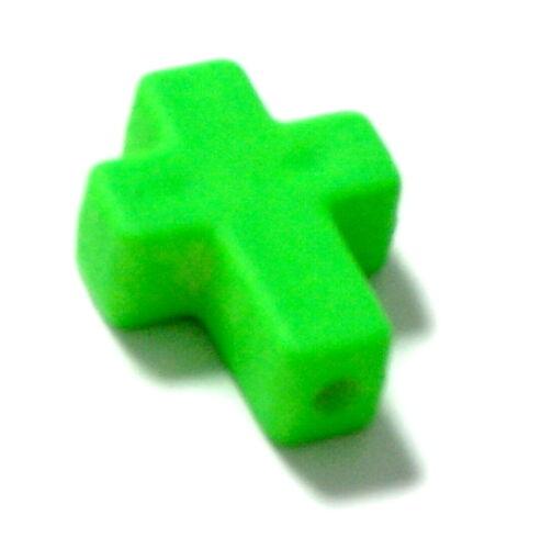 Kreativsets für Kinder Bastel- & Kreativ-Bedarf für Kinder Farbenfrohe Kreuz Perlen /Neonfarben 16*12mm /Kinder/ Baby/ Taufe/ Geburt/Ostern