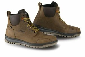Falco-Patrol-Dark-Brown-Motorcycle-Motorbike-Urban-Leather-Boots-All-Sizes