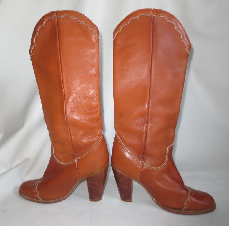 De Alto De Colección Zodiac Western Fancy Puntera botas, campus Boho m marrón