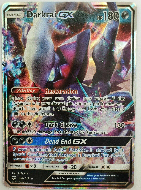 Pokemon TCG NM Box Packed Darkrai GX 88a//147 Burning Shadows