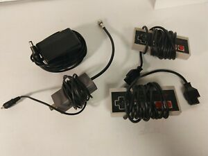 OEM Official Nintendo NES AC Adapter Power Supply NES-002  & Controllers C