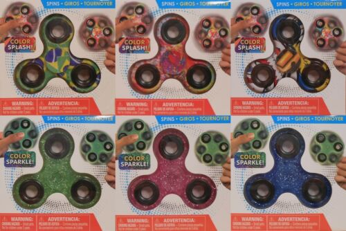 Spinners Hand Finger Metal Colorful Sparkle Glitter Stress Toy