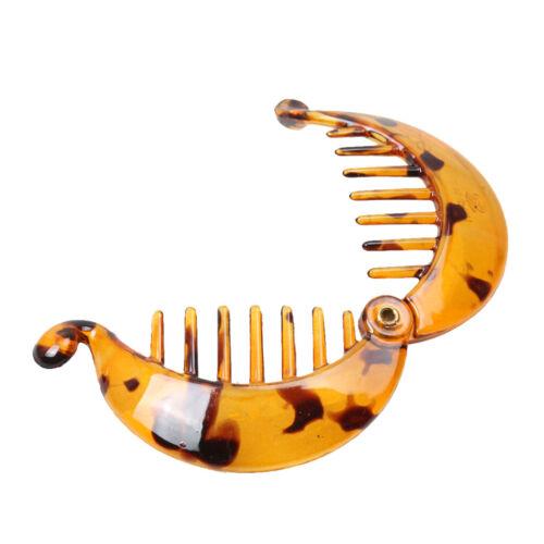 Resin Banana Fish Hair Clip Ponytail Holder Hair Slide Grip Hair Barrette