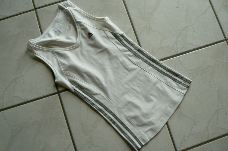 Adidas Sport Top Shirt Weiss Grau Gr. 32 Climacool