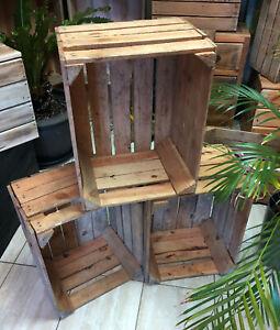 Details About 6 Wooden Crates Fruit Apple Boxes Vintage Home Decor Real Uk Seller Free Ship