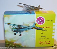 MICRO TOY EKO TOYEKO NO HO 1/150 AVION PIPER PA-18 SUPER CUB GRIS REF 5005 BOX
