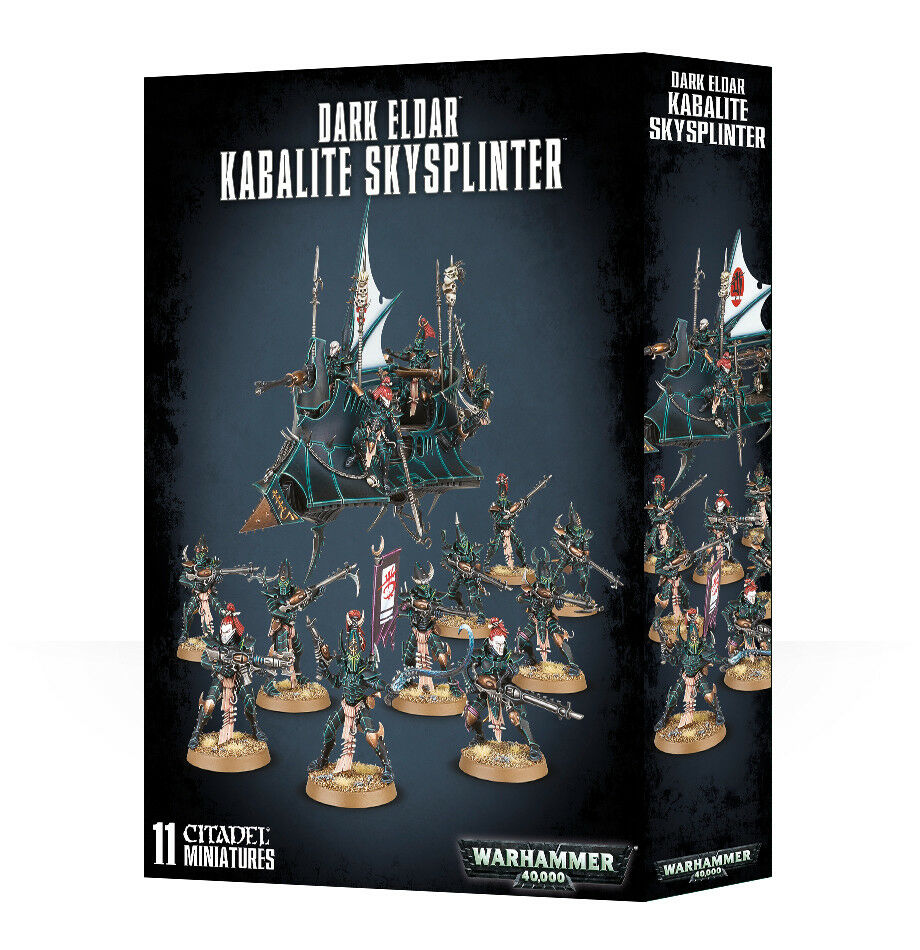 Drukhari Kabalite skysplinter Raider Guerreros Eldar Oscura Warhammer 40k Nuevo