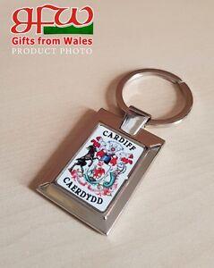 City-of-Cardiff-Crest-high-polished-metal-keyring