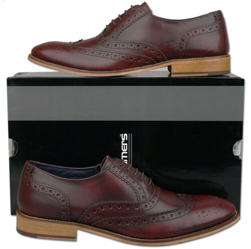 Scarpe brogue oxblood 9 in Taglie Mens 10 7 12 pelle 8 brunite 6 11 d5vwSI