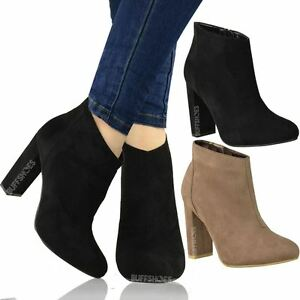 Image Is Loading New Womens Las Office Work Ankle Boots Mid