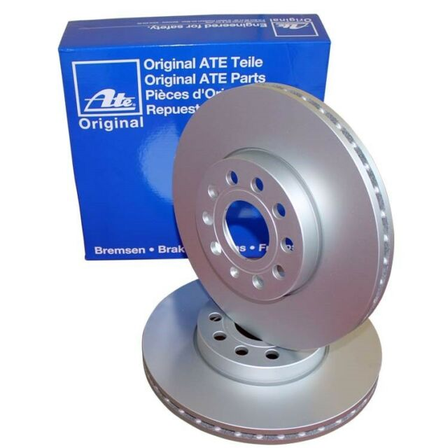2 ATE Discos de Freno Delanteros 266mm Citroen