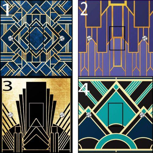 UK standard Bold Art Deco Light Switch Stickers