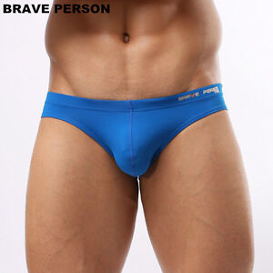 new-man-Sexy-Underwear-Briefs-Brave-Person-Nylon-swimwear-Bikini-M-L-XL-13-color