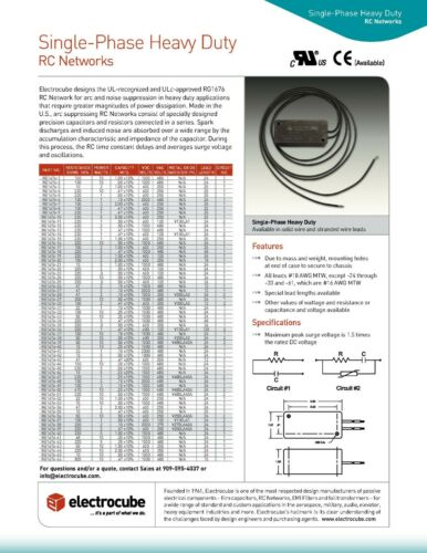 Electrocube RG2031-2-8 RC network Arc Suppressor 33 Ohm 1//2 Watt 0.1 MFD USA