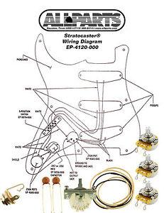 wiring kit fender acirc reg stratocaster strat complete schematic image is loading wiring kit fender stratocaster strat complete schematic