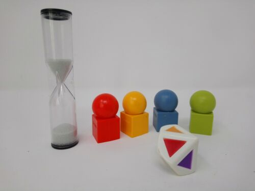CRANIUM Board Game 1 SAND TIMER 1 DIE DICE 4 MOVERS replacement pieces parts