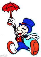 4.5 Disney Jiminy Cricket Balloon Character Fabric Applique Iron On