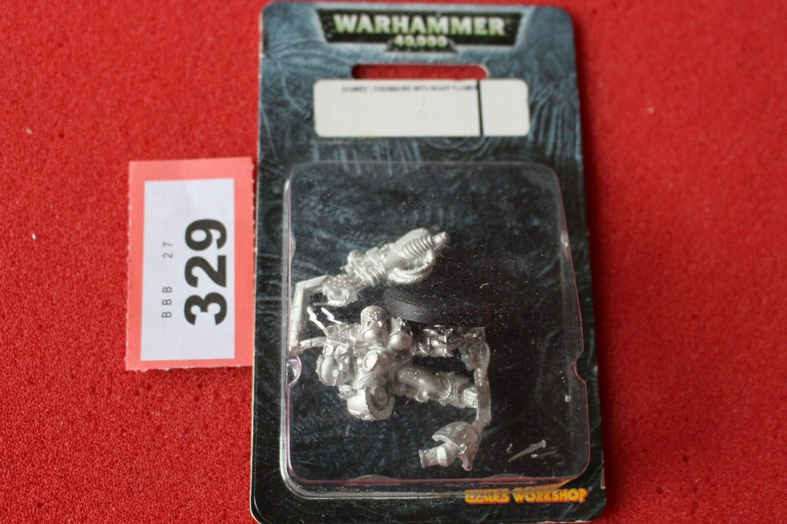 Warhammer 40k Damned Legionnaires with Heavy Flamer of the Damned Metal OOP