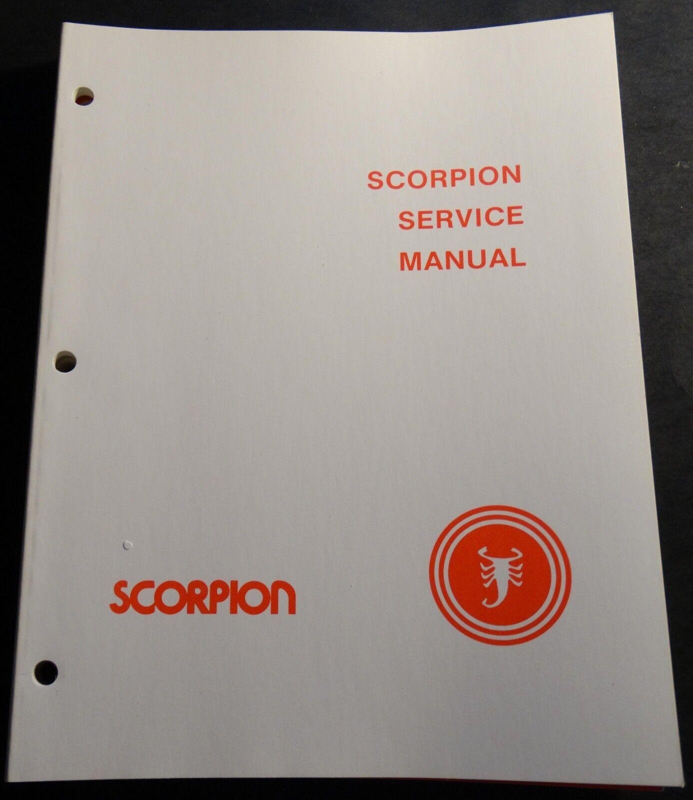 VINTAGE 1979 SCORPION SNOWMOBILE SERVICE MANUAL NICE NEW (962)