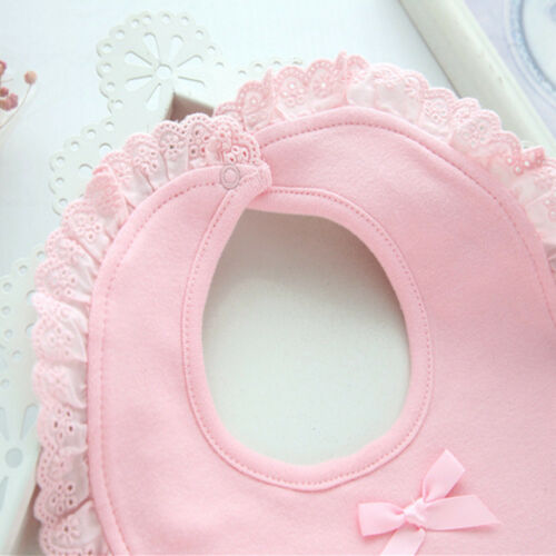 Cotton Baby Bibs Lace Bow Baby Waterproof Towel Infants Soft Baby Burp Cloths