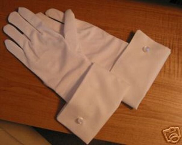 Hellsing Cosplay Sir Integra White Gloves with cuff for your Costume