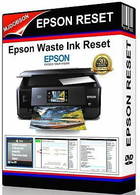 EPSON XP760 WASTE INK PADS RESET SERVICE ERROR DOWNLOAD | eBay