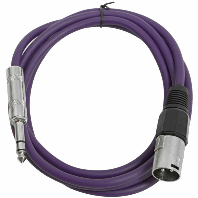 """Seismic Audio SEISMIC Colored 1//4/"""" TRS XLR Female 3/' Patch Cables 6"""