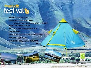 Image is loading Regatta-Festival-2-Man-TeePee-Tent-BNIP-berth- & Regatta Festival 2 Man TeePee Tent - BNIP - berth person Tipi ...