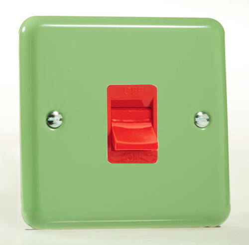 Switches Lights Sockets Stainless Steel Beryl Green