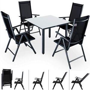 Set Tavolo E 4 Sedie Pieghevoli In Alluminio Da Giardino Arredo Esterni 2 Colori Ebay