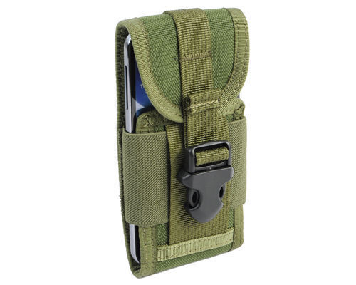 Army Green MOLLE Tactical Cordura Mobile Phone Smartphone Belt Pouch Bag Case S