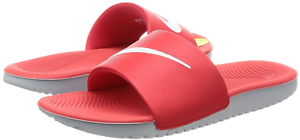 71c5606adfacc5 NIKE Kawa Slide Sandal GS PS University Red White 819352-600 Kids