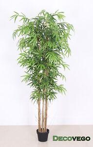 Bambu-Pianta-Albero-Artificiale-con-Legno-Naturale-180cm-Decovego