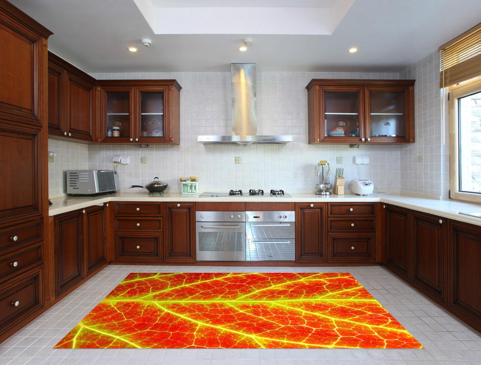 3D Bright Leaf 80 Kitchen Mat Floor Murals Wall Print Wall Deco AJ WALLPAPER CA
