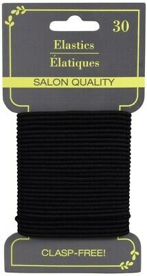 Basic Solutions Salon Quality Clasp-Free Snag-Free Hair Elastics 30-Count Pack