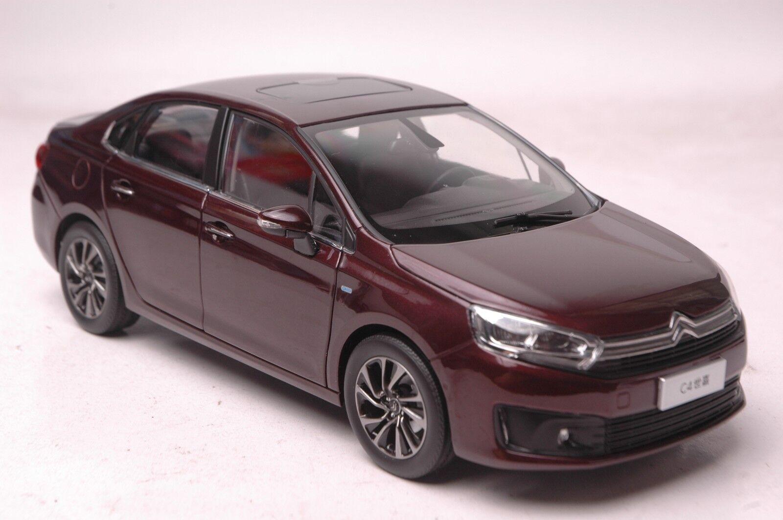 Citroen c4 2016 auto - modell im maßstab 1,18 rot