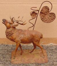 rare ancien pique fleurs cerf bronze dit de vienne régule peint tres fin detail