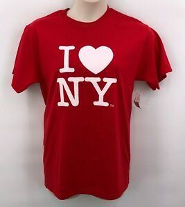 Official Licensed I Love NY New York City Long Sleeve T-Shirt White /& Gray S-2XL