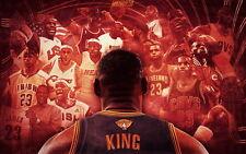 """257 LeBron James - NBA Basketball Champion FMVP All Stars 22""""x14"""" Poster"""
