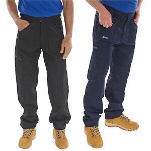 """Taille 30"""" Reg Leg Action Du Clic Bleu Marine Qualité En Polycoton Travail Pantalon Pantalon-afficher Le Titre D'origine"""