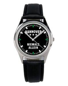 Diplomatisch Hannover Geschenk Fan Artikel Zubehör Fanartikel Uhr B-2360 Armbanduhren