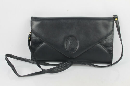 Pouch Bag CLAUDE GERARD Paris Leather Midnight blu